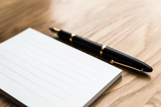 便箋、手書き、添え状