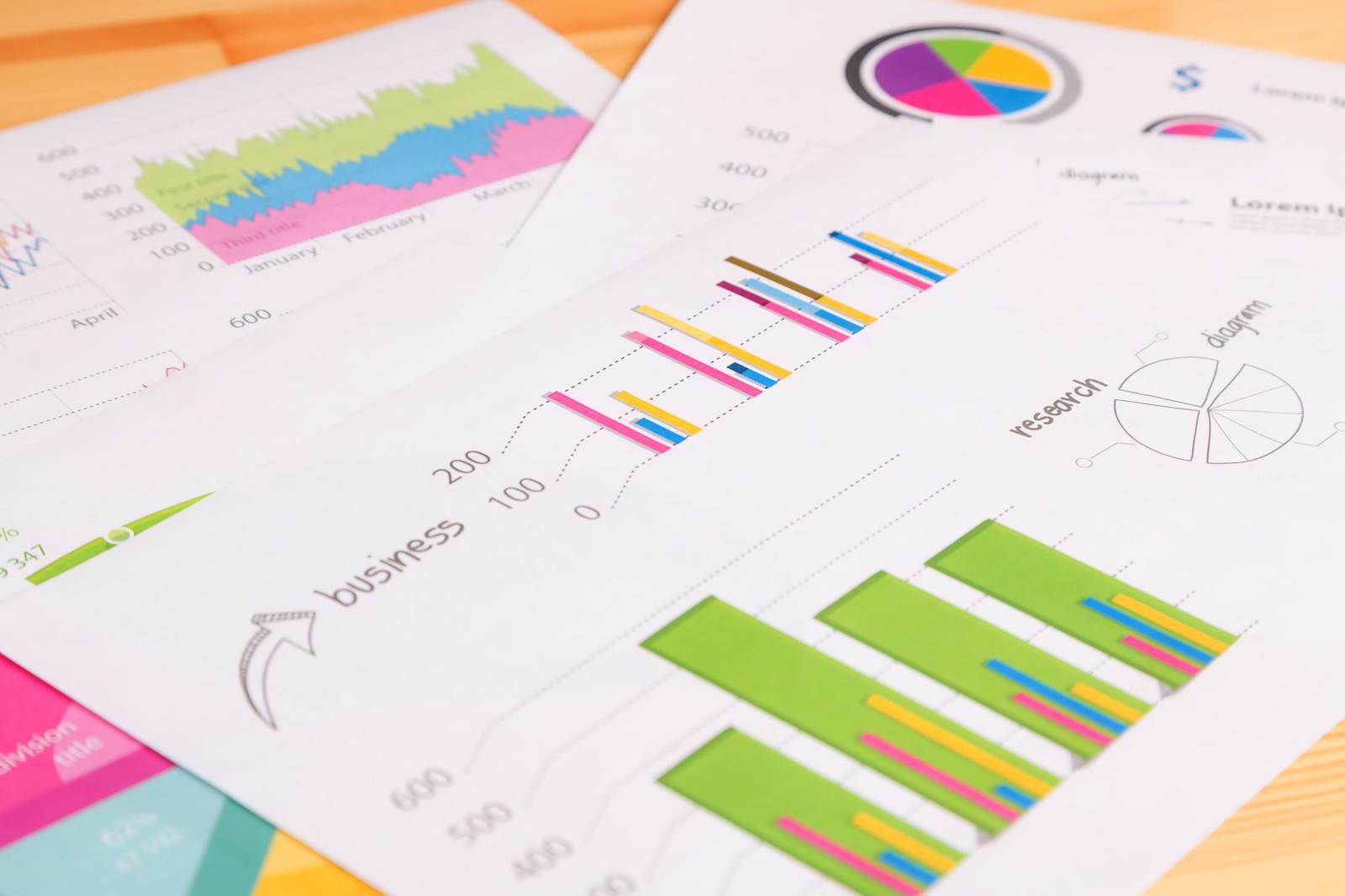 グラフ、増加、推移、データ